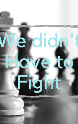 We Didn't Have to Fight